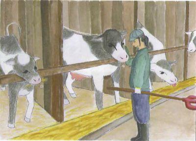 かわいい牛たち