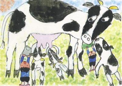 わーい、お母さん牛だあ。