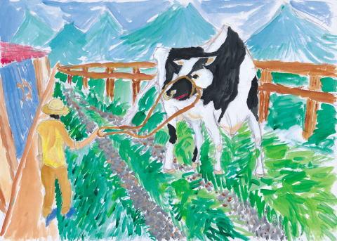 牛のサンポ♪