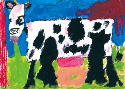 銅賞 牛がこっちを見ているよ
