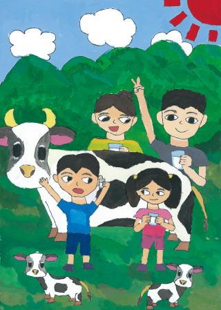 牛乳大すき 家族