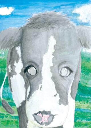 銅賞 青空と牛