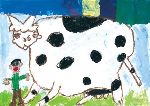 銀賞 牛となかよし