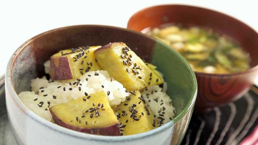 【乳和食】さつま芋の黒ごまおこわ