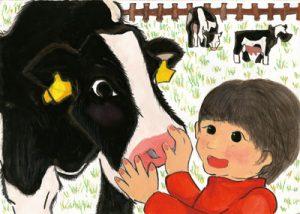 お牛さん こんにちは!!