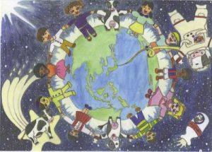 世界につながる 牛乳の輪