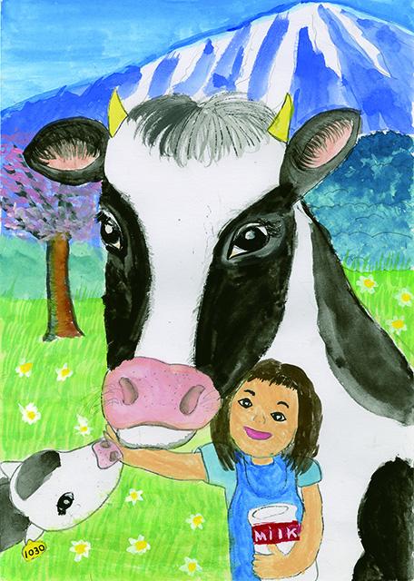 岩手県教育長賞 いつも牛さんと一緒