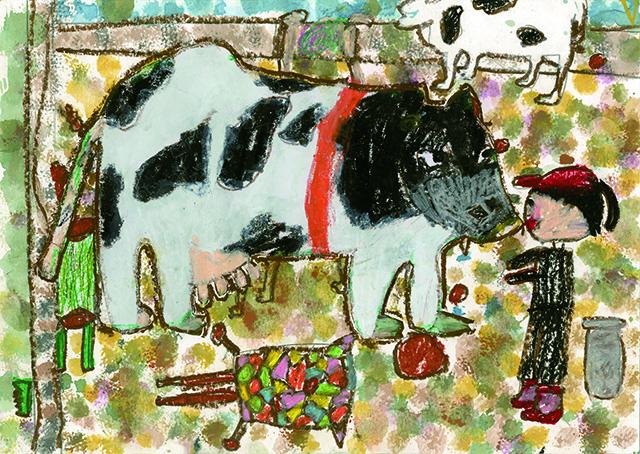 銀賞 ありがとう牛さんぎゅうにゅうのんでるよ