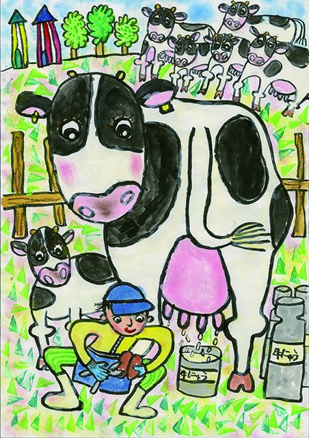 銀賞 おいしい牛にゅうを出すには, つめ切りも大切だよ!