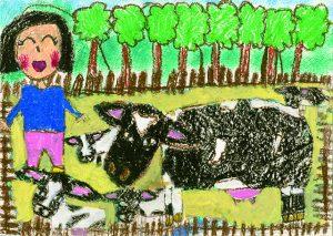 銅賞 牛にゅういっぱいのんでるよ