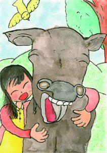 笑顔の牛さんといっしょに