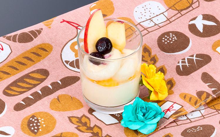 桃のムース~クリーム風味みたらし添え~
