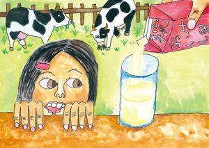 牛乳たくさん飲みたいな