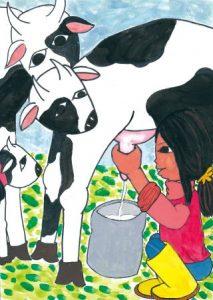 おいしい牛乳を出してちょうだいね。