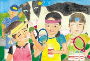 スポーツのあとは、やっぱり牛乳!