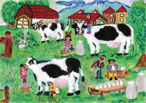 金賞(岩手県教育長賞) 牛乳は私の元気のもと 伊藤 希楽 3年 女 盛岡市立 大慈寺小学校