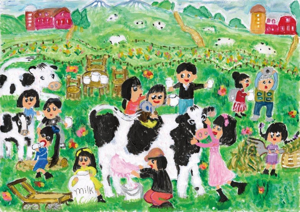銀賞 いつもおいしい牛乳ありがとう 伊藤 彩楽 6年 女 盛岡市立 大慈寺小学校