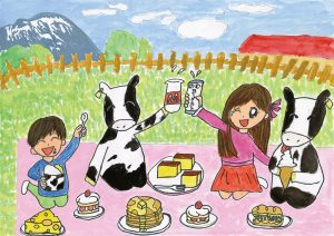 牛さんとピクニック